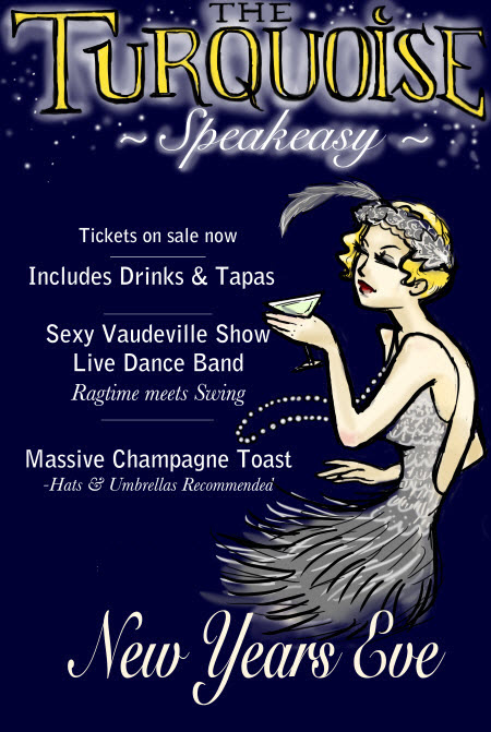 Click for more information on The Turquoise Speakeasy NYE 2016